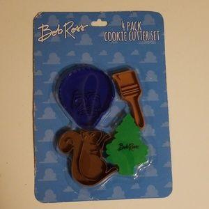 Bob Ross Kitchen - NEW! Bob Ross 4 Piece Cookie Cutter Set NWT